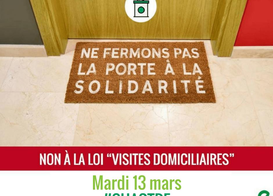 Chastre: commune hospitalière contre les visites domiciliaires !