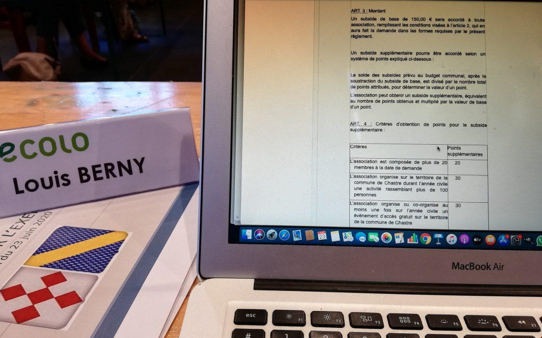 Le nouveau règlement d'attribution des subventions communales pour les associations