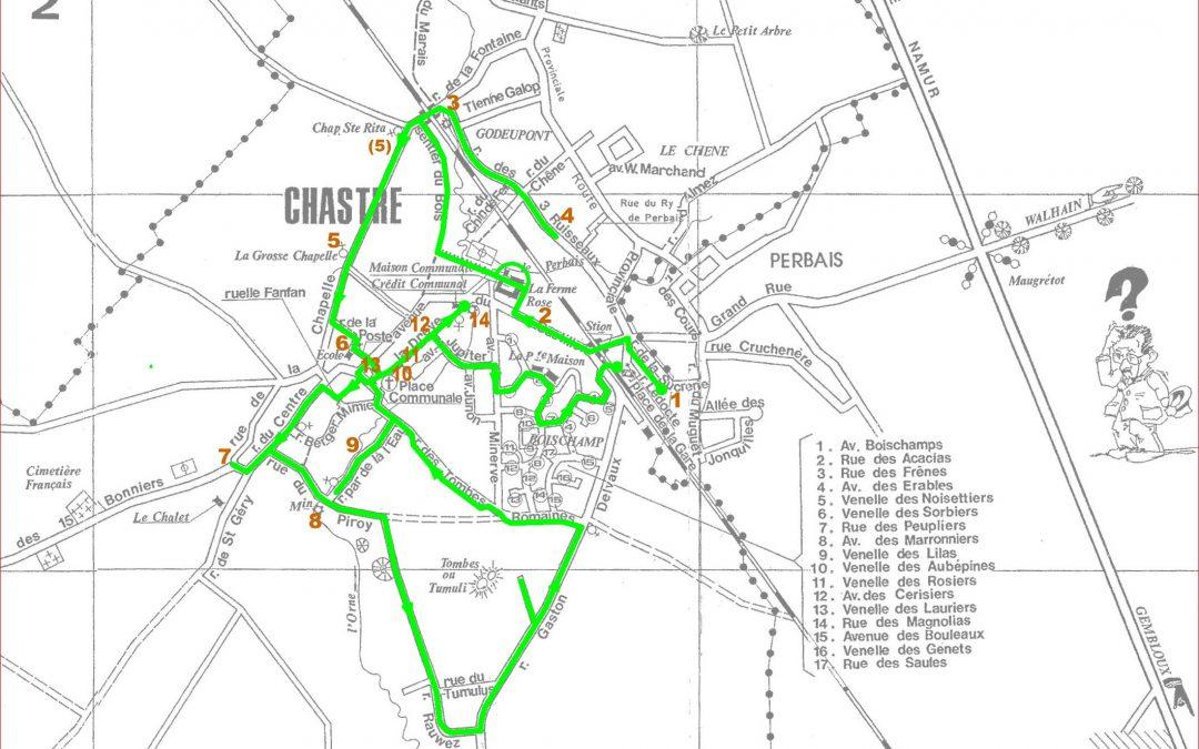Promenades à la découverte de Chastre – çà commence ce dimanche 5 juillet 2020