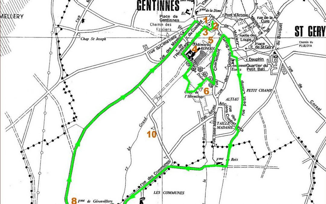 Promenades à la découverte de Chastre – 5° édition – ce dimanche 2 août 2020 : Saint-Géry – Gentinnes