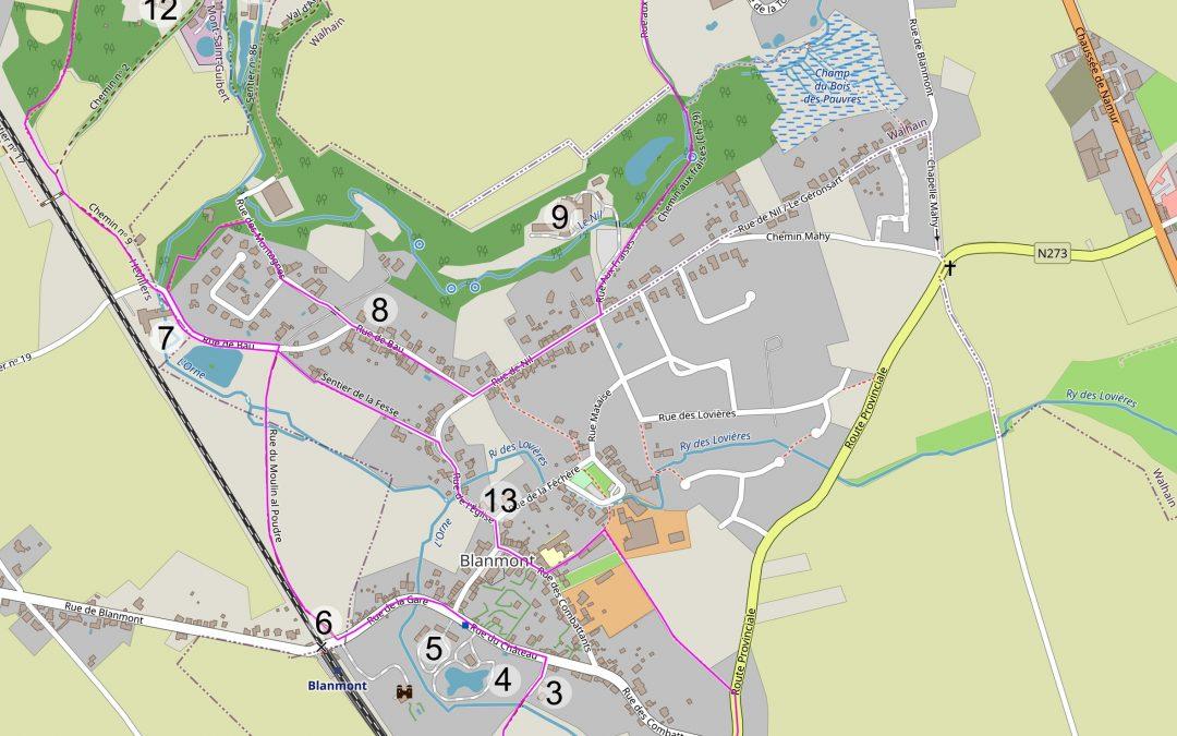 Promenades à la découverte de Chastre – 6° édition – ce dimanche 9 août 2020 : Blanmont