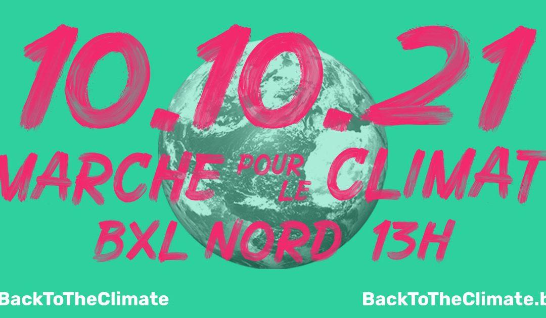 Dimanche 10 octobre 2021 – Marche pour le CLIMAT